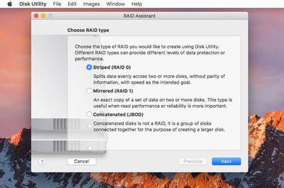 Mac Disk Utility to Create a RAID 1 (Mirror) Array