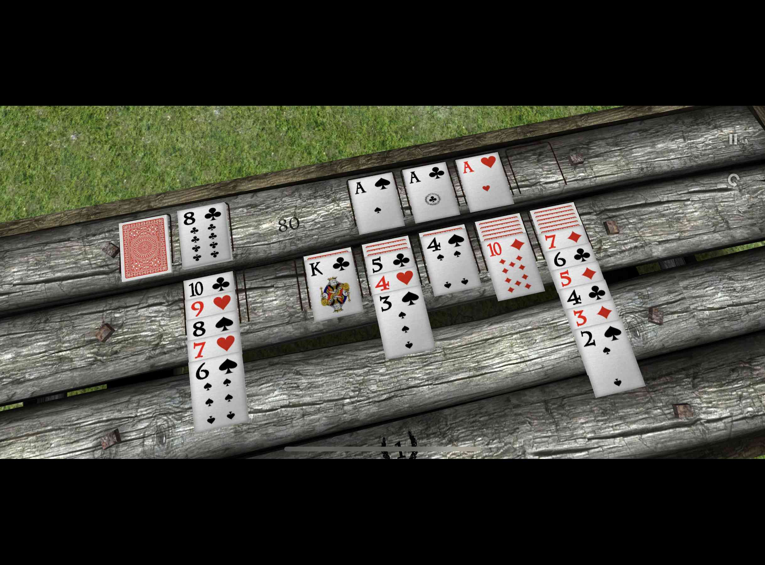 Solitaire Zen virtual reality card game on iPhone.