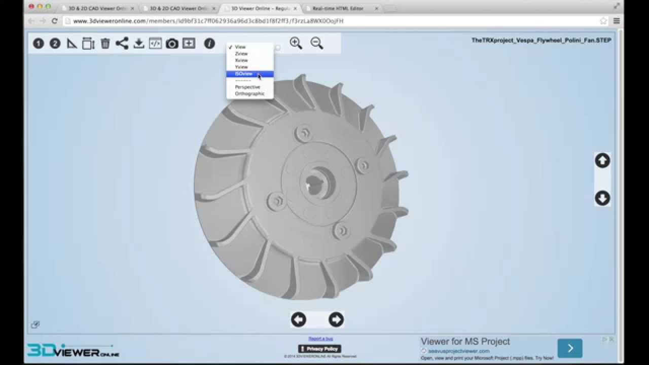 3DViewer online STL file viewer