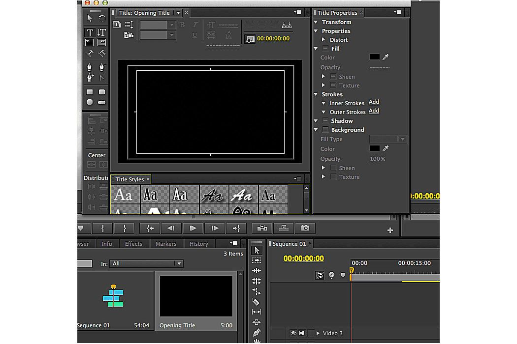 Adding titles to a sequence