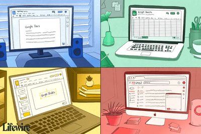 Google Suite apps on four different computers
