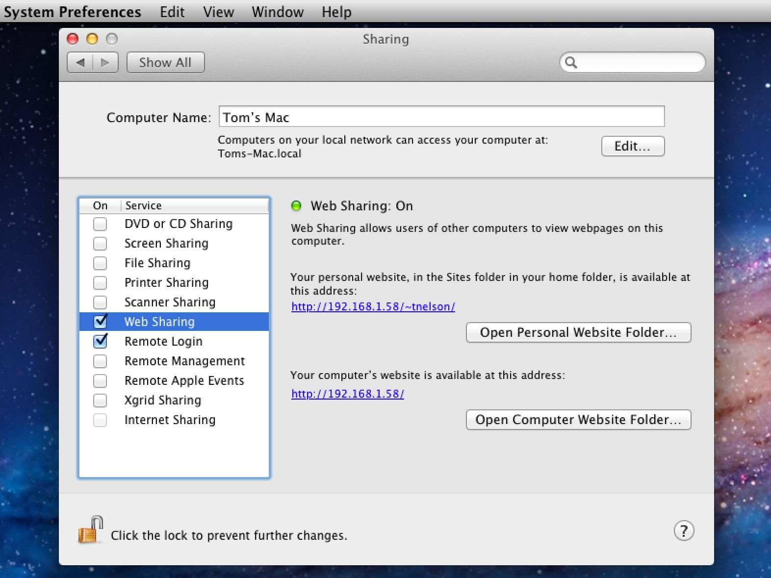 Use Your Mac's Built-In Web Server to Share a Website