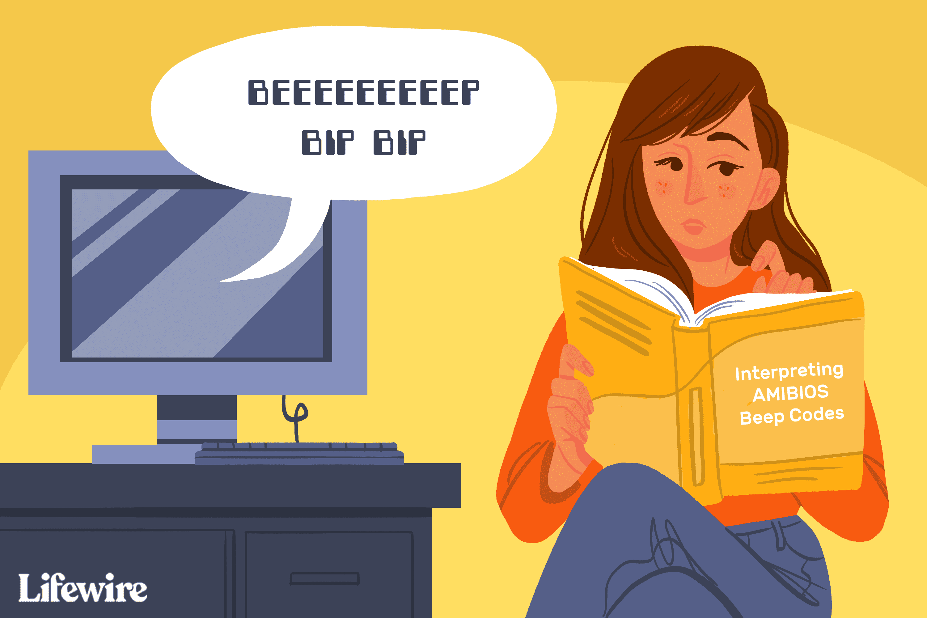 Illustration of a person reading