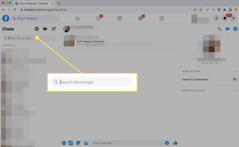 The Search Messenger box