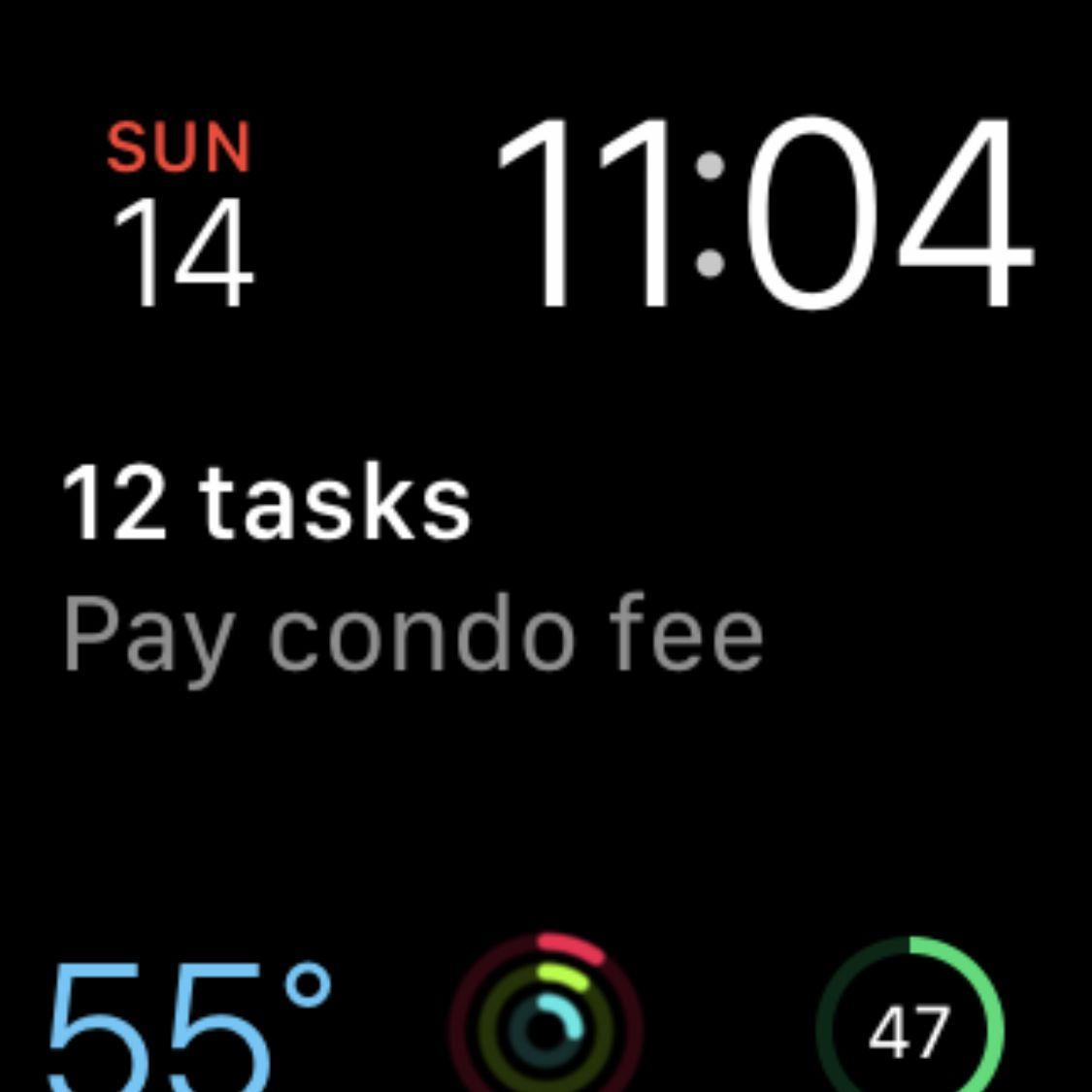 An Apple Watch screenshot viewed in the iPhone Photos app