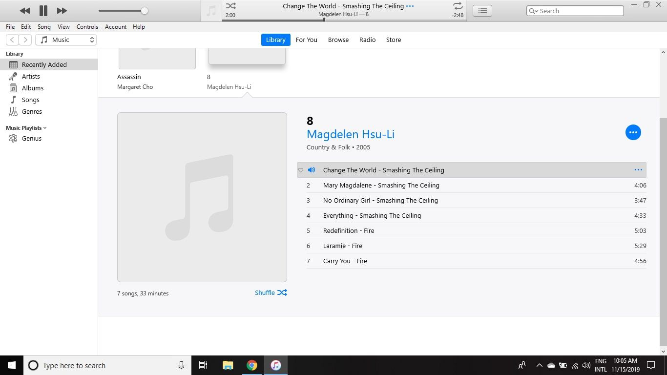 Select the song in iTunes to play it.