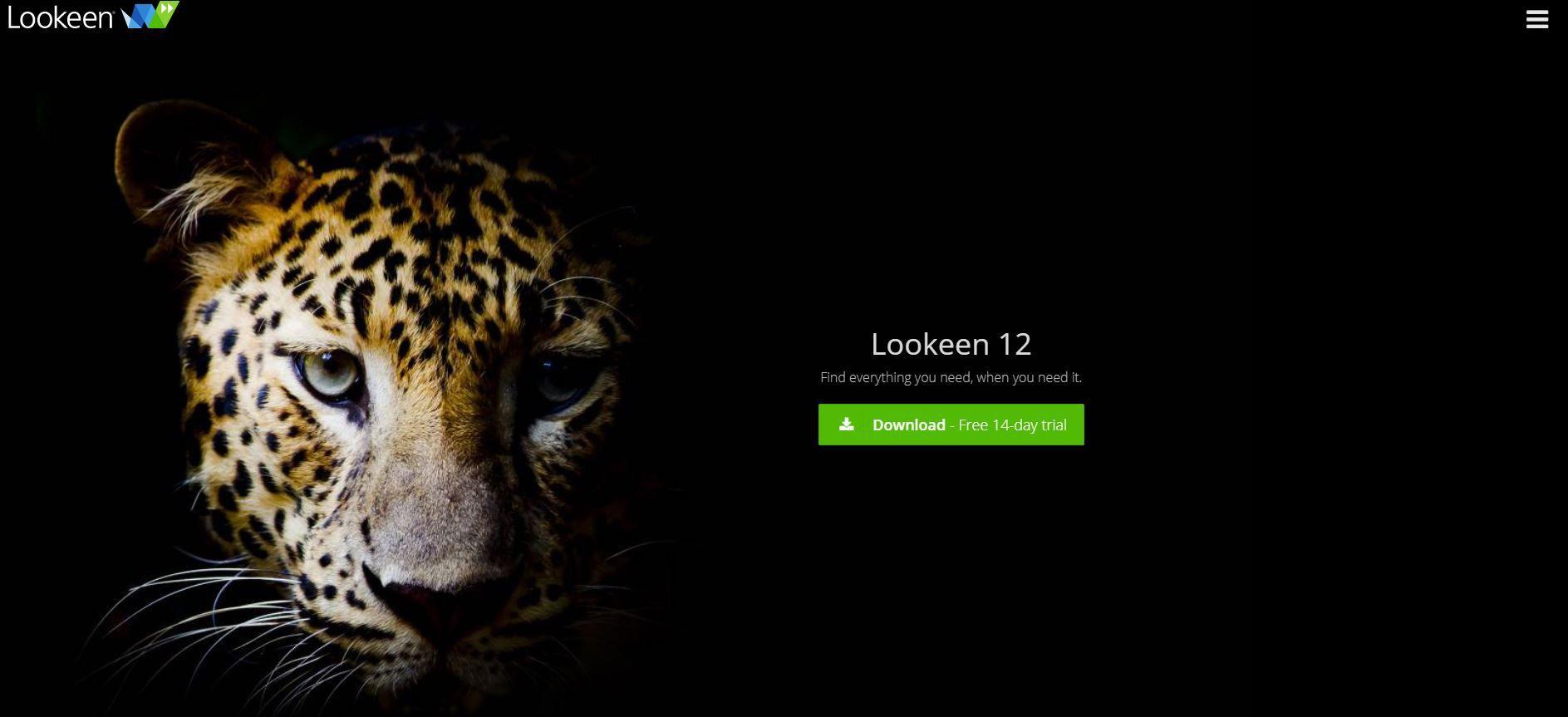 Screenshot of Lookeen website