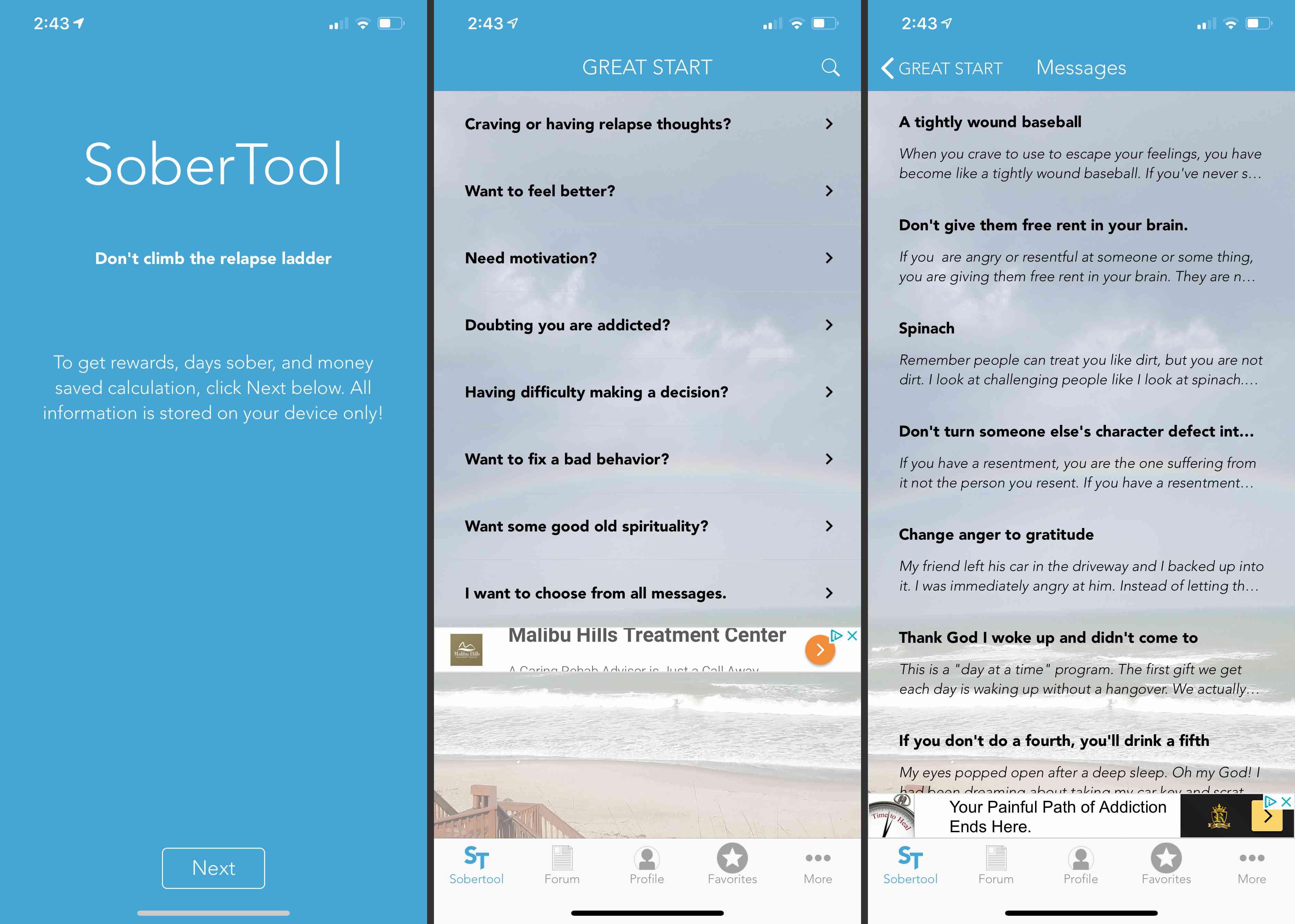 SoberTool app