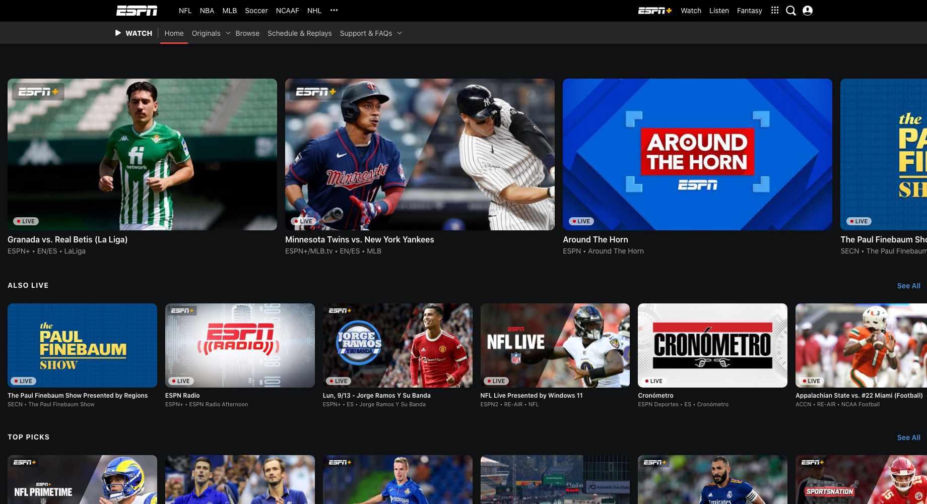 ESPN online