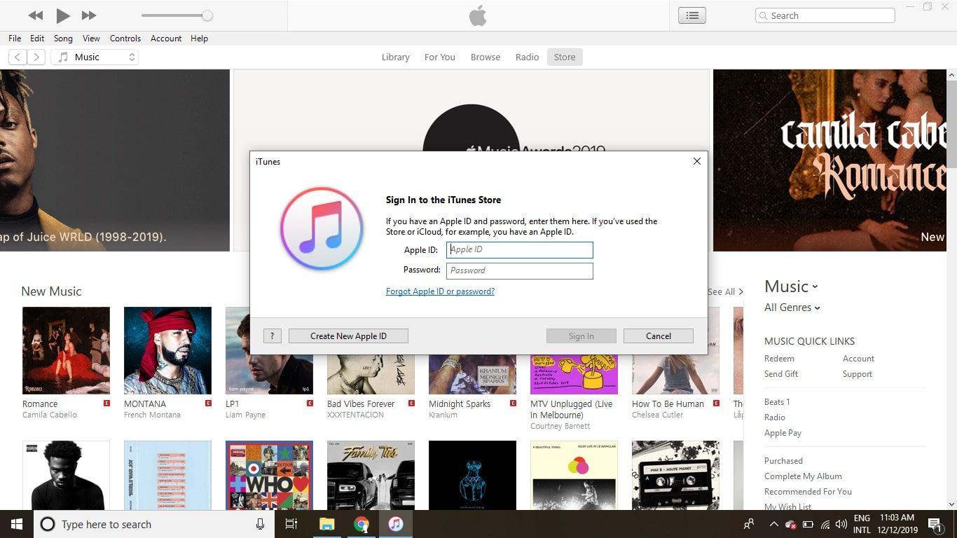 Select Create New Apple ID.