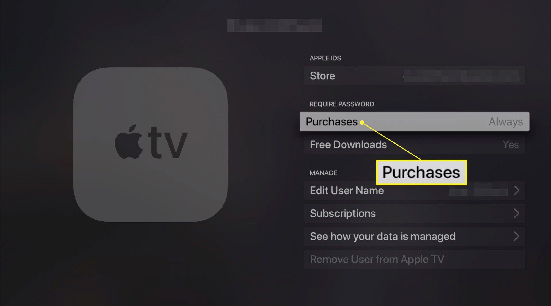 Purchase option on Apple TV