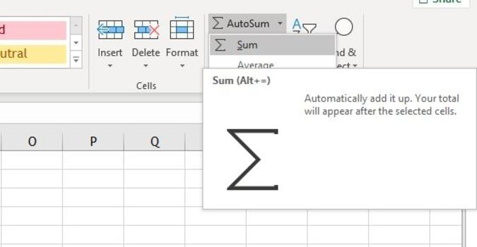 Sum Columns Or Rows With Excel S Sum Function