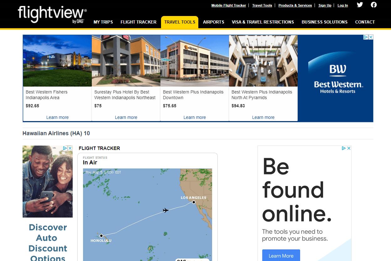 flightview website