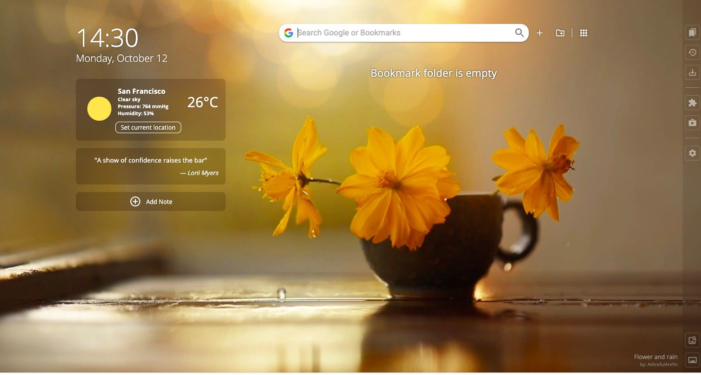 Chrome browser with Homey extension installed