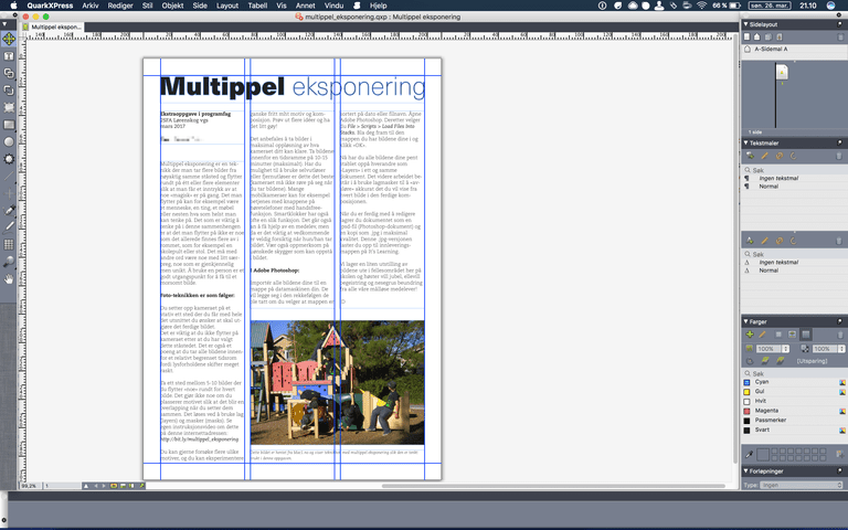 QuarkXPress layout