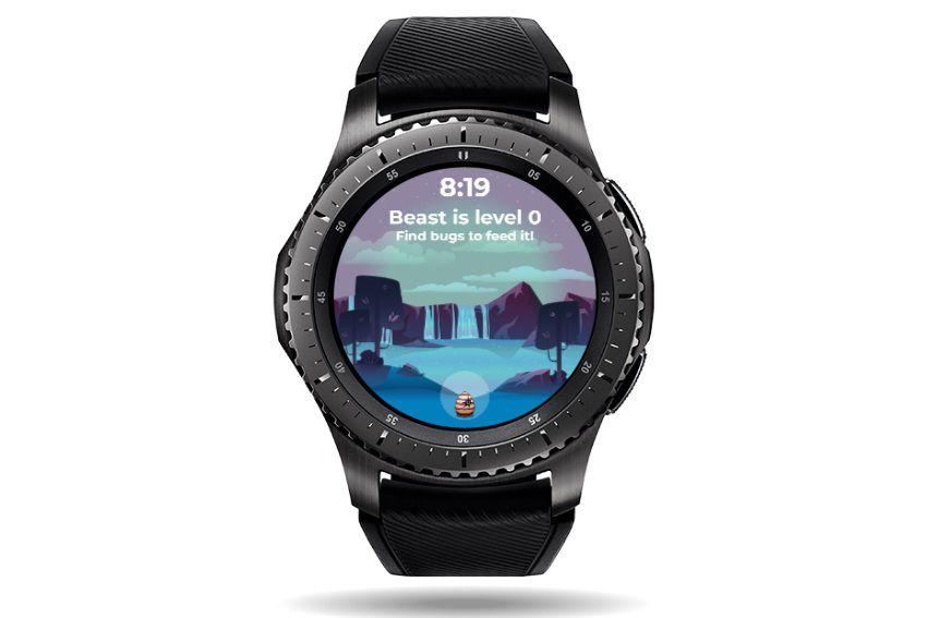 Your Beast Friend watch face on a Samsung Galaxy watch