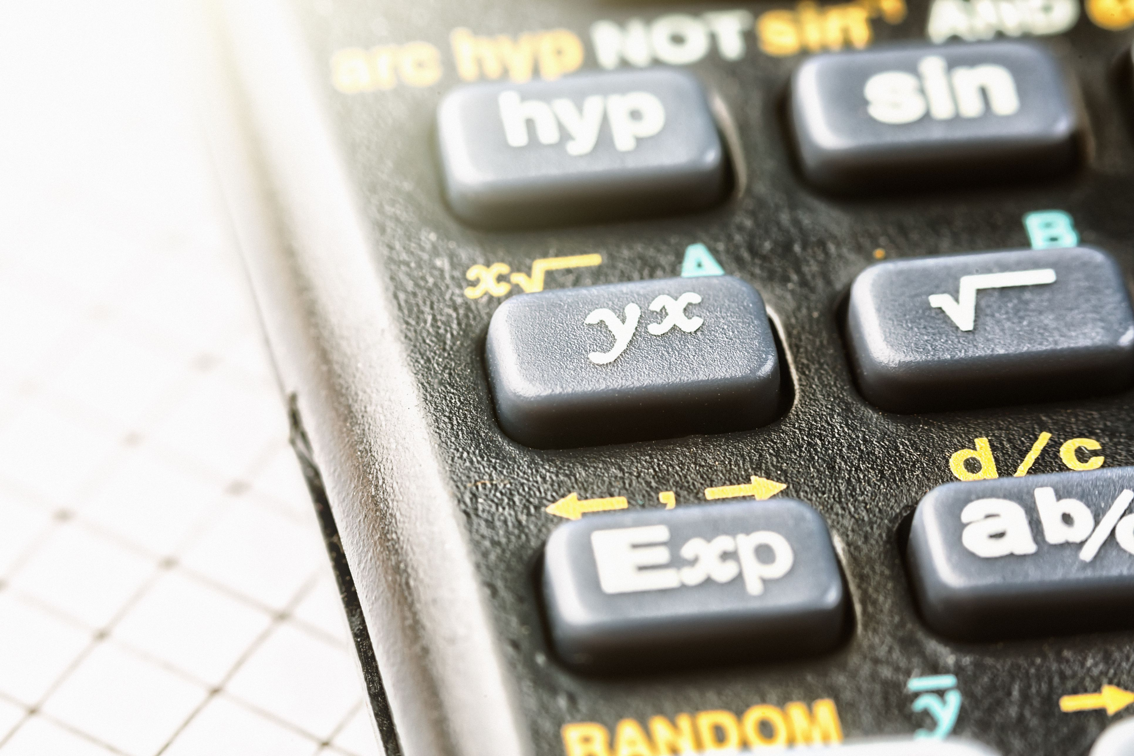 Macro of keypad of sophisticated calculator