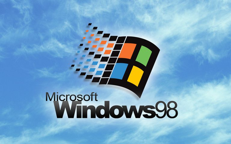 Screenshot of the Windows 98 Splash Screen