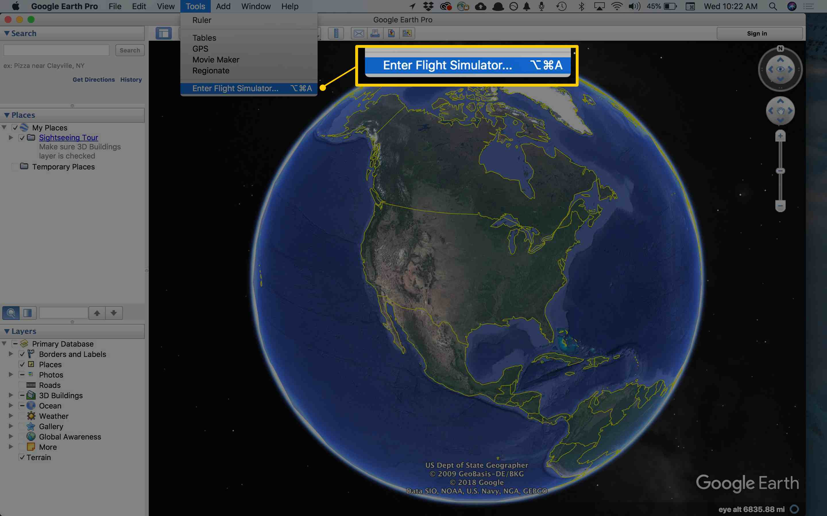 How to Find the Hidden Flight Simulator in Google Earth Google Maps Airplane Game on google satellite live camera, facebook airplane, mapquest by airplane, apple maps airplane, google earth airplane, google airplane simulator, sketchup airplane,