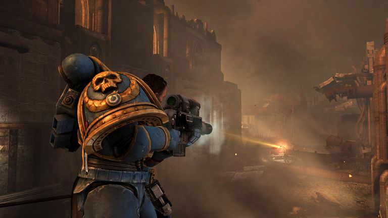 Character shooting in Warhammer 40,000 dawn of war