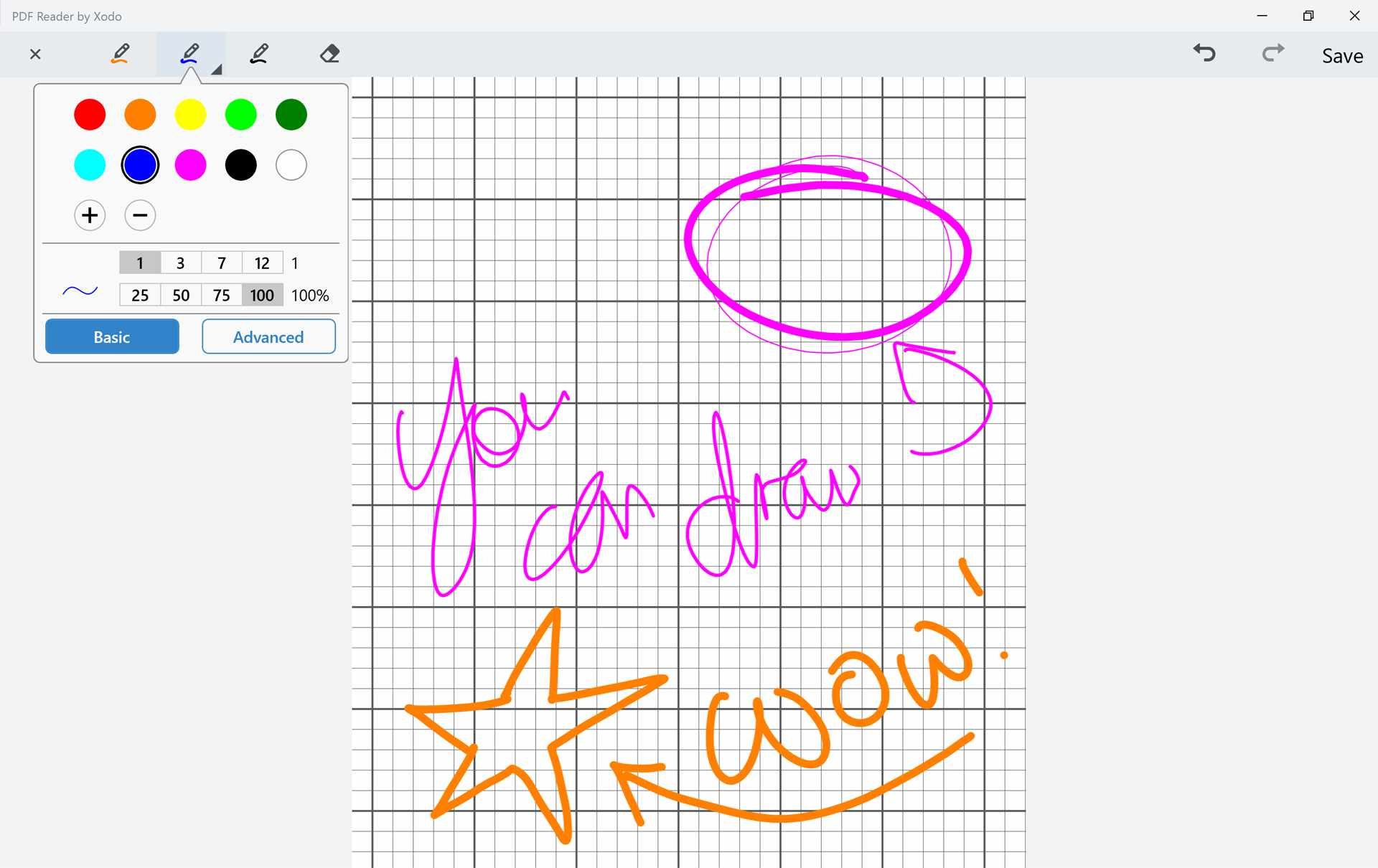 PDF Reader by Xodo Surface Pro drawing app.