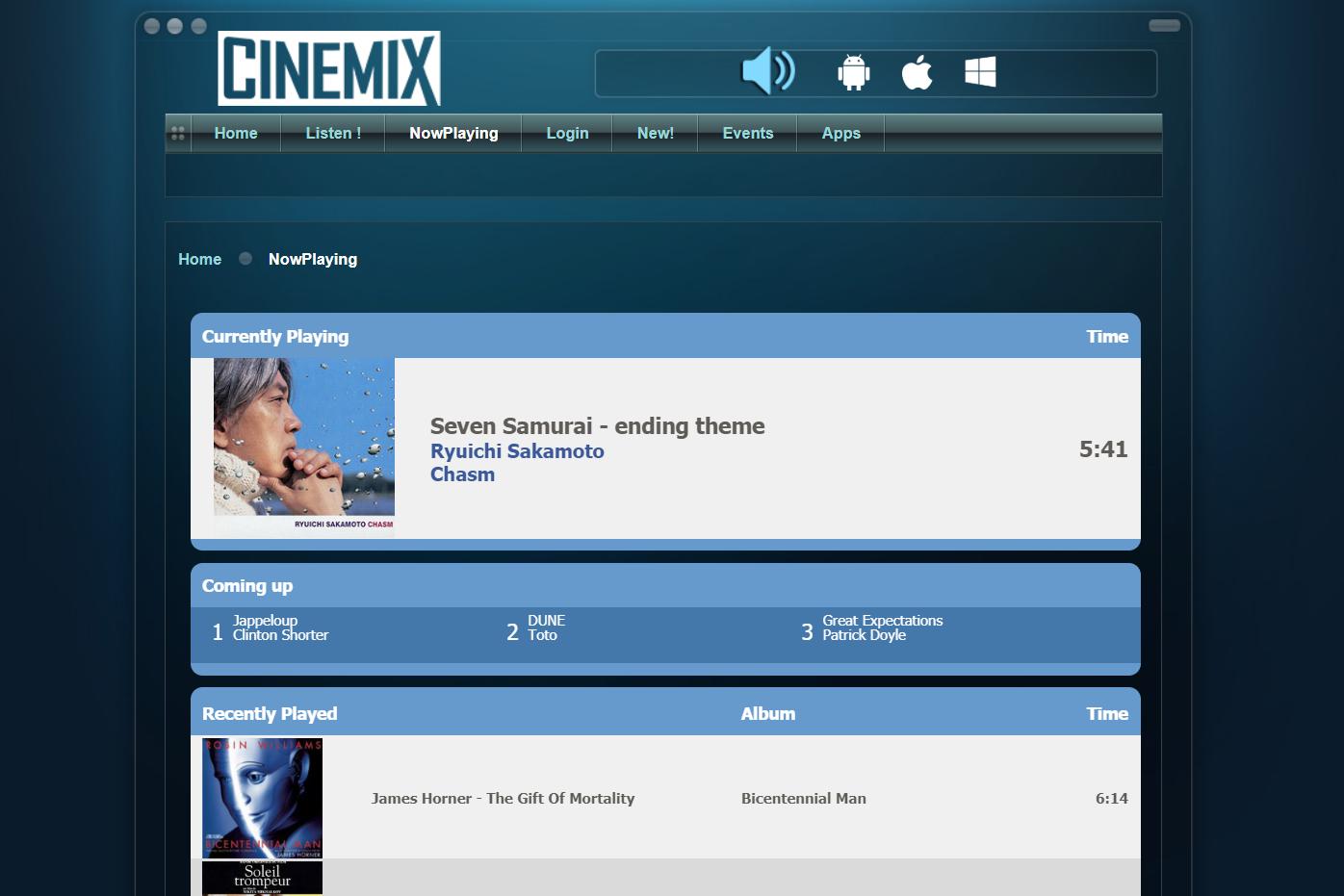 Cinemix online radio station