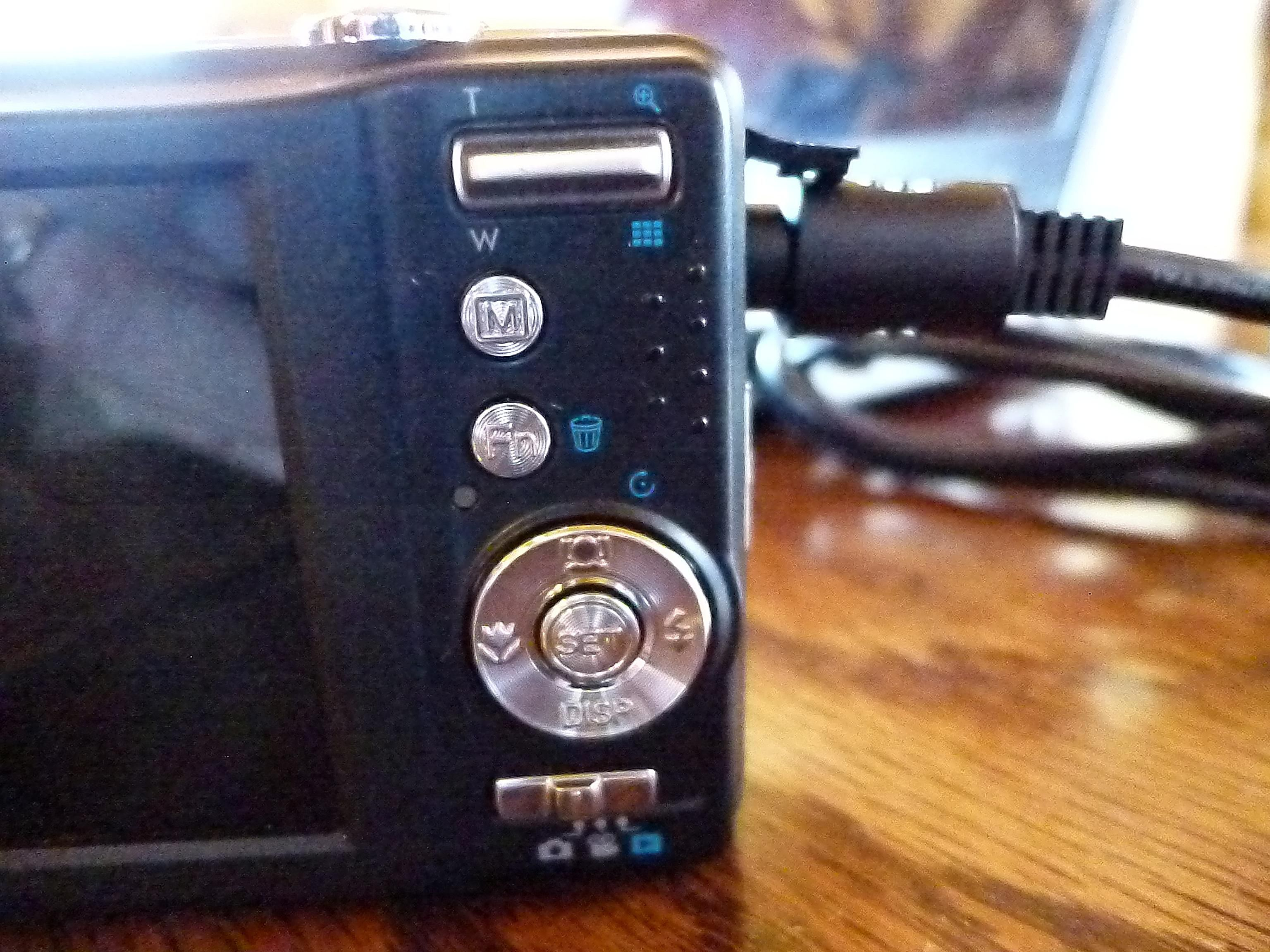 USB connected to camera