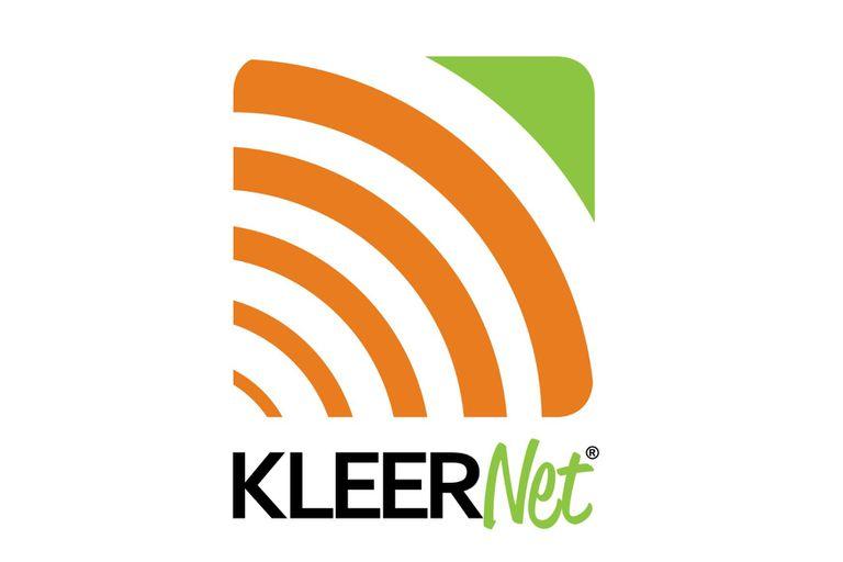 The logo for Kleer/KleerNet wireless technology