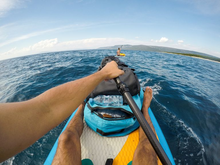 Personal perspective of a stand up paddler