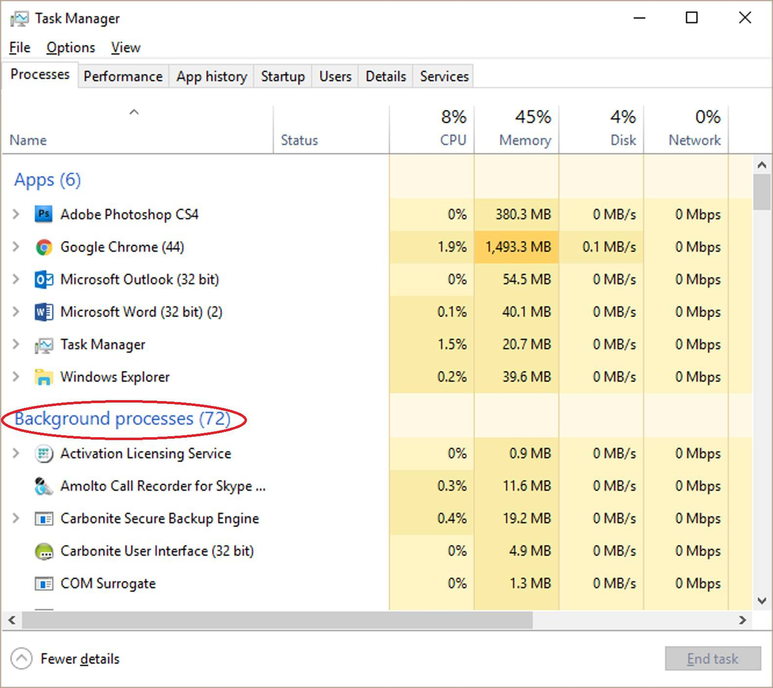 changing which programs start on startup windows 10