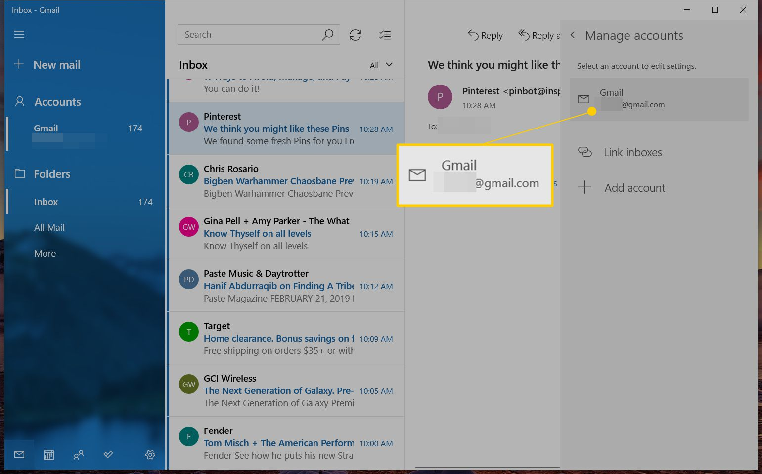 how to remove email from gmail app