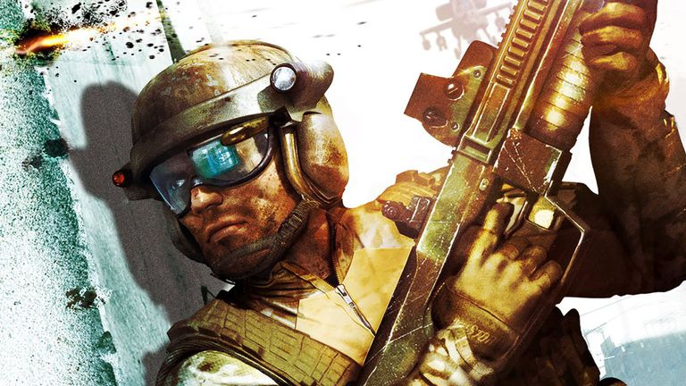 Soldier in cover from Tom Clancy's Ghost Recon Advanced Warfighter