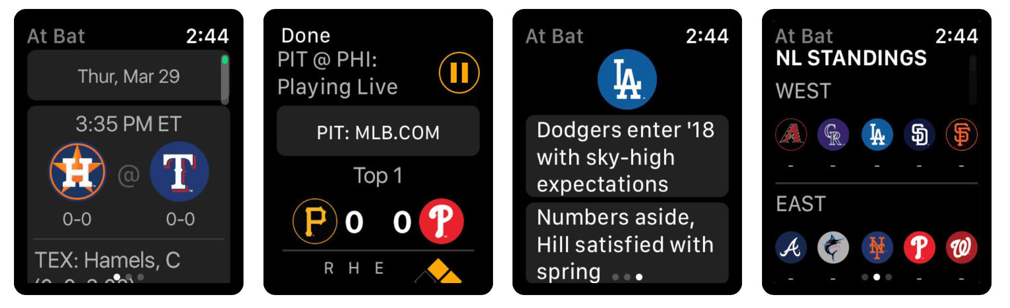 MLB At Bat Apple Watch Complication