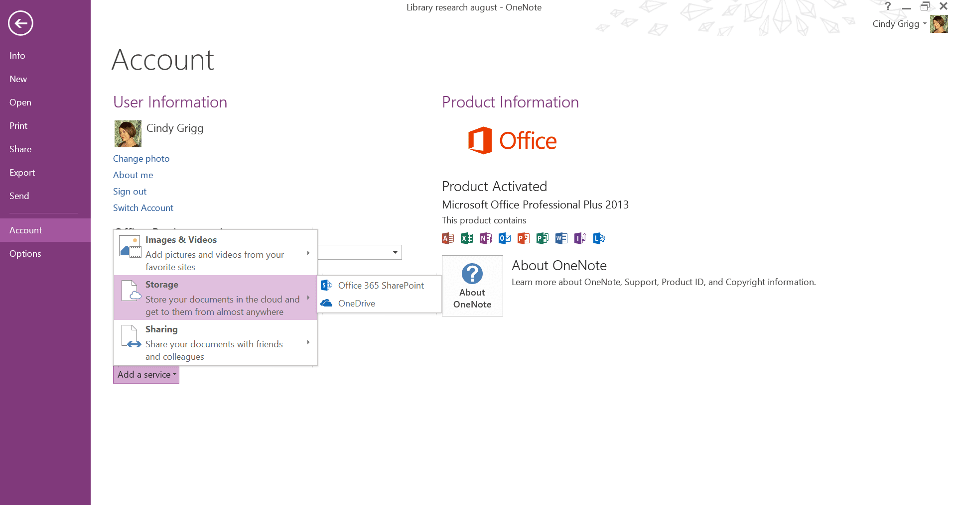 Share OneNote Notes to SharePoint