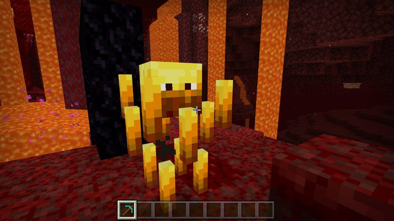 A Blaze in Minecraft
