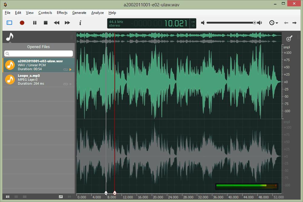 Ocenaudio free music editor