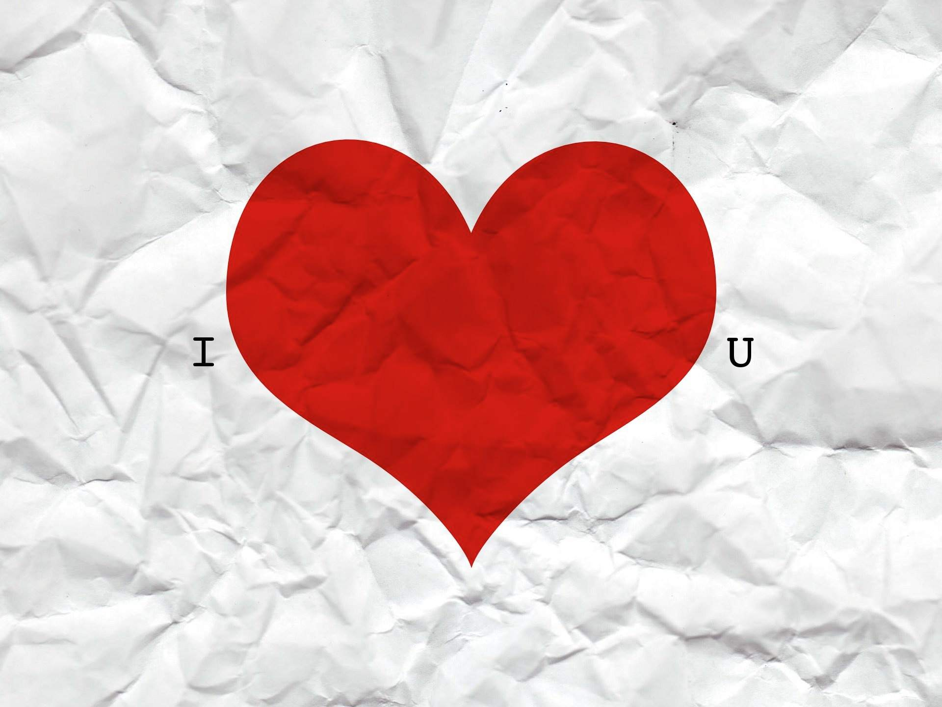 A Crumpled Piece Of Paper That Says I Love You Wallpaper Stock