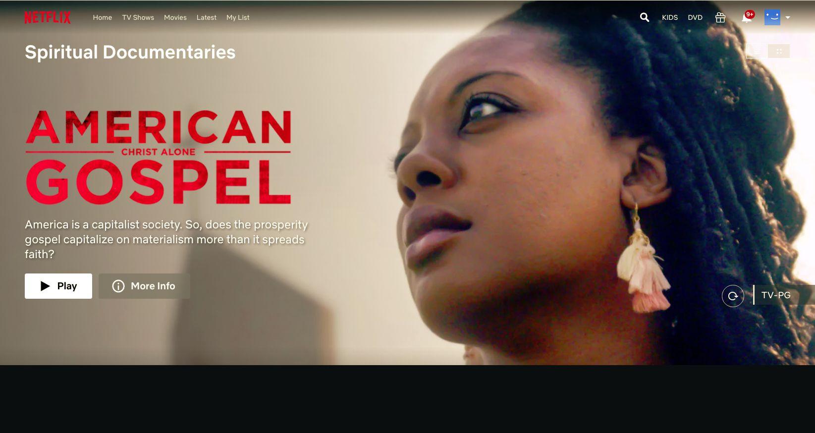 American Gospel movie found with Netflix secret codes