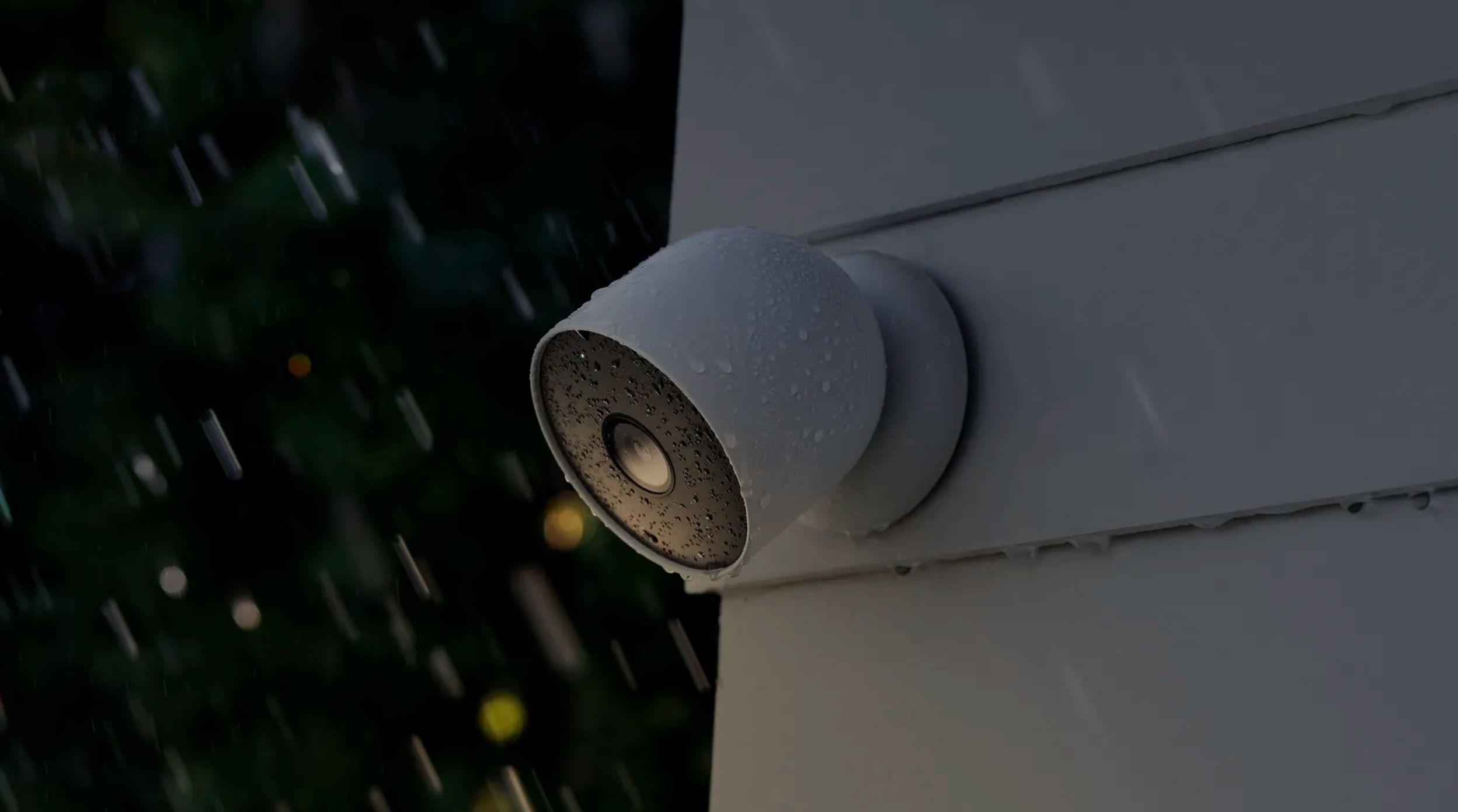 The wireless indoor/otdoor Nest security camera.