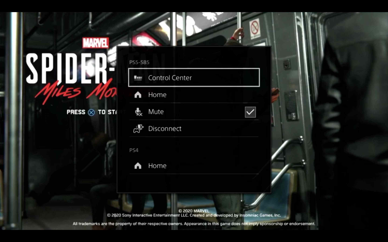 The Remote Play menu