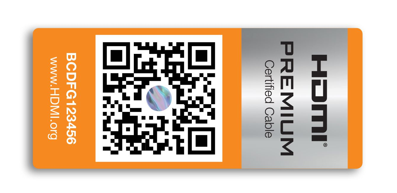 HDMI Premium Certified Package Label
