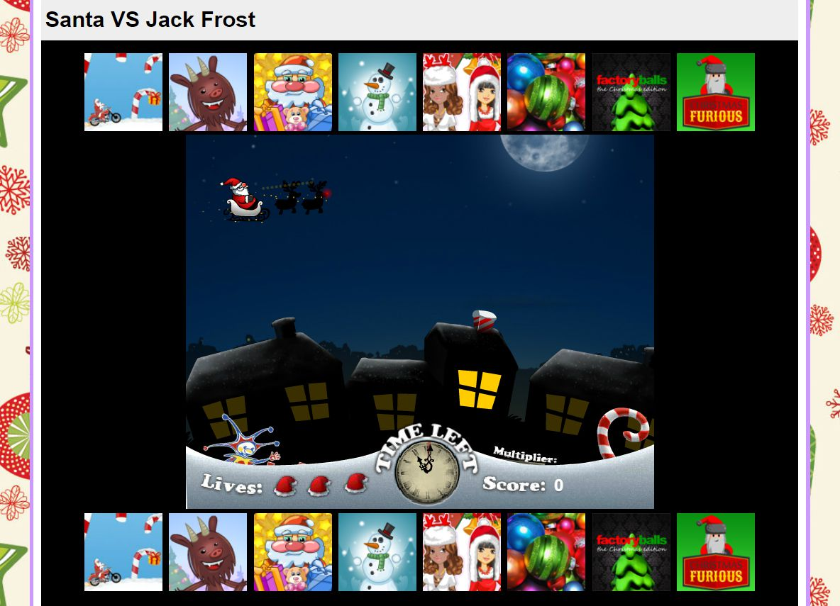 a screenshot of the game santa vs jack