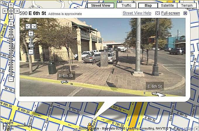 Google Street View is a great way to check out an intersection.