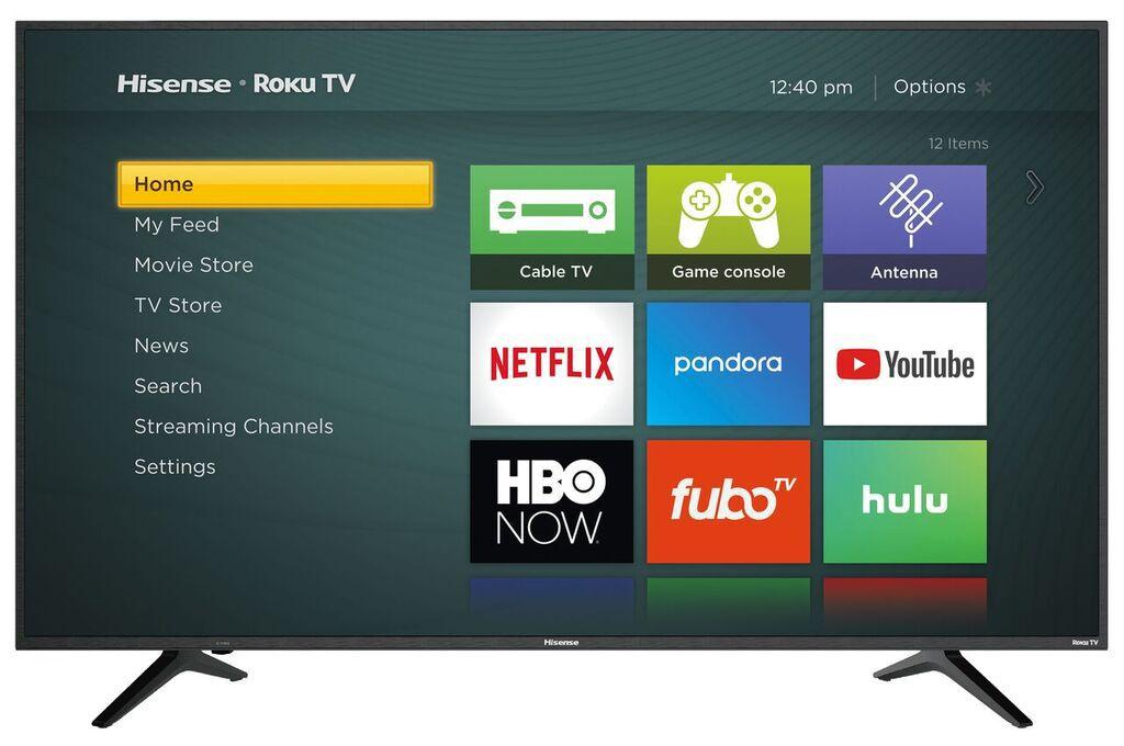 Hisense Roku TV Home Screen Example