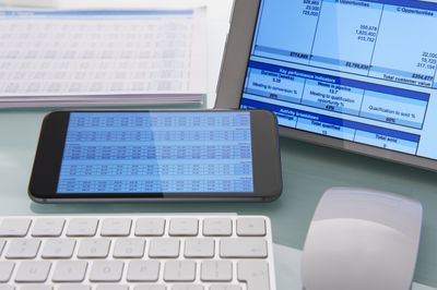 Digital Spreadsheet on tablet and phone