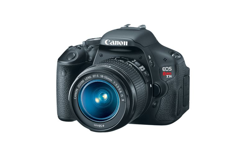 The Canon EOS Rebel T3i.