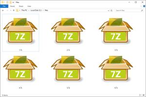 7Z files in Windows 10