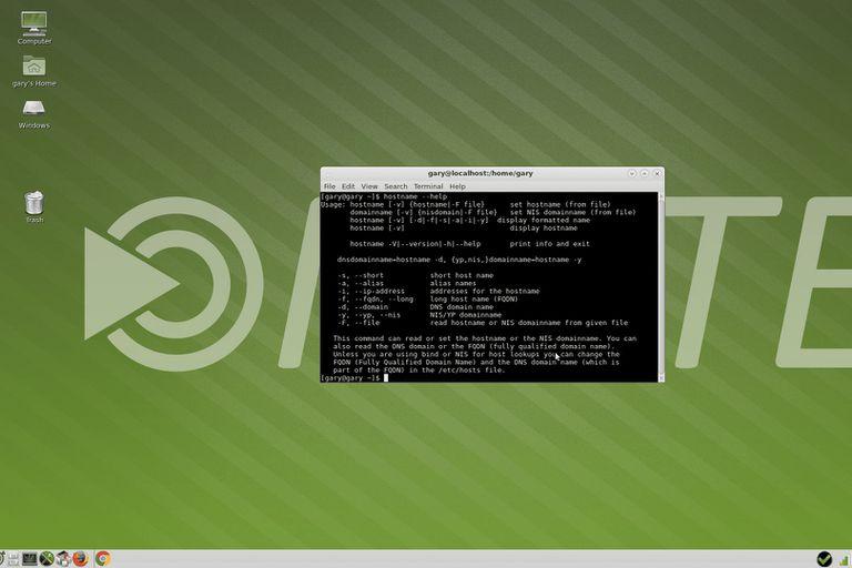 Linux screenshot