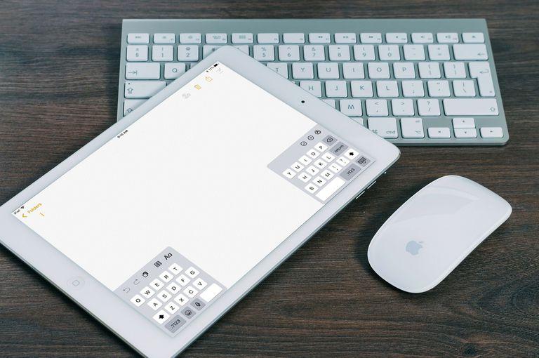 iPad split keyboard