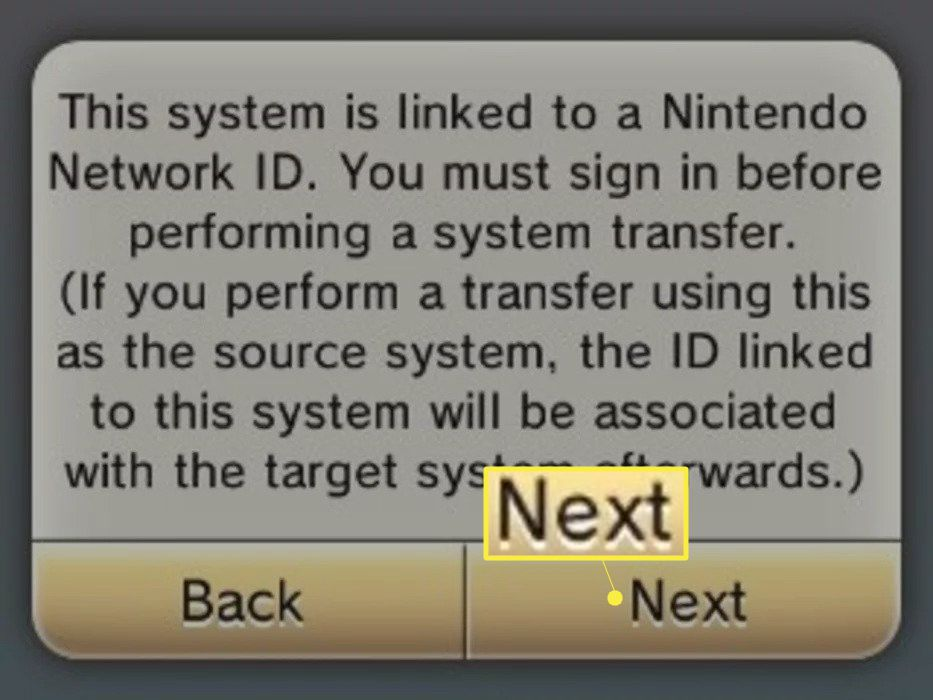 Select Next and enter your Nintendo Network ID password.